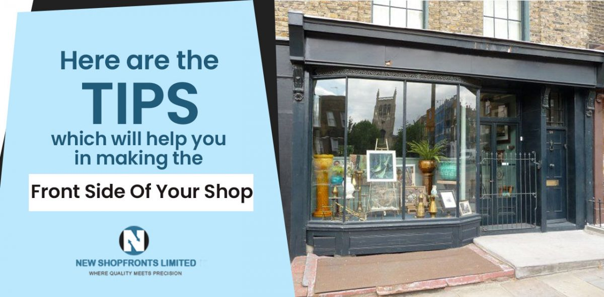 making the front side of your shop