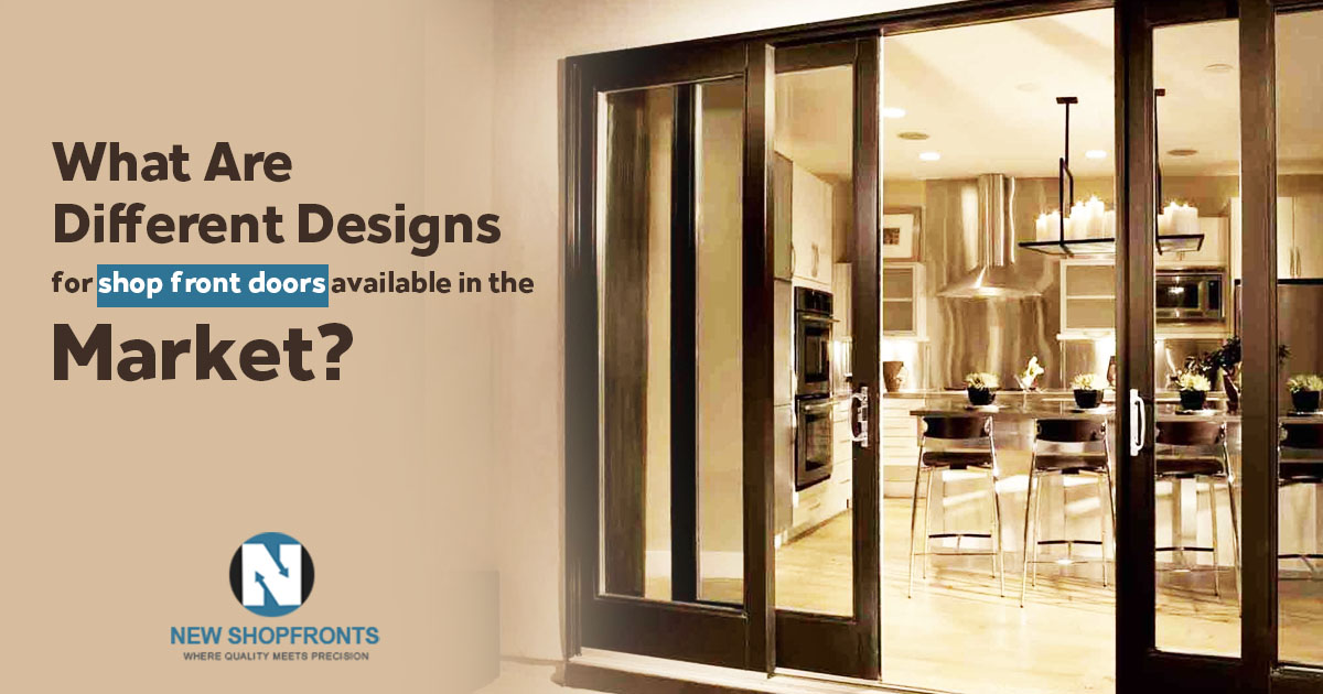 What are different designs for shop front doors available in the market